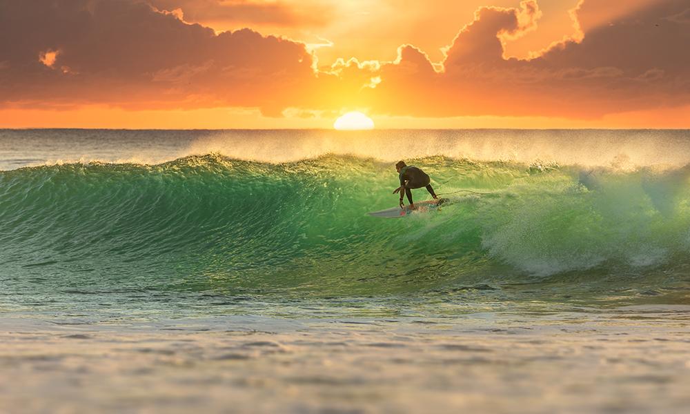 Surfing in Hermanus